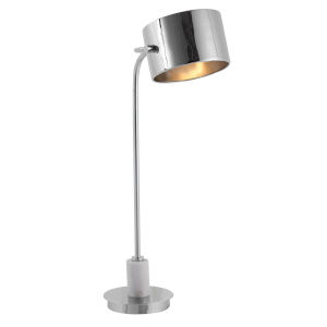 Mendel Polished Nickel One-Light Desk Lamp