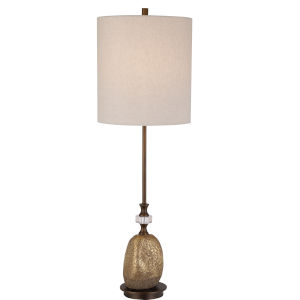 Aurum Dark Bronze and Gold One-Light Buffet Lamp