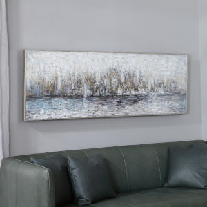 City Reflection Multicolor Hand Painted Canvas