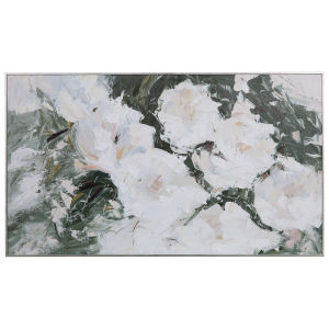 Sweetbay Magnolias Green and White Hand Painted Art