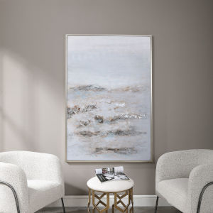 Open Plain Silver Abstract Art