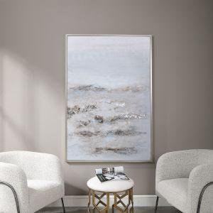 Open Plain Silver Abstract Art
