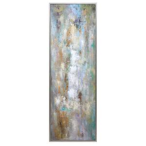 Enigma Blue, White, Gray and Brown Hand Painted Abstract Art