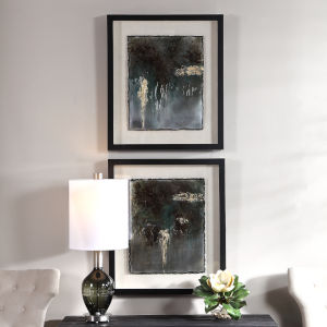 Rustic Patina Framed Print, Set of 2