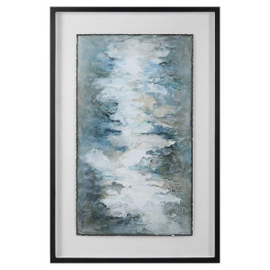 Lakeside Grande Multicolor Framed Abstract Print