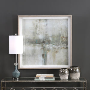 Essence Gray and Beige Framed Print