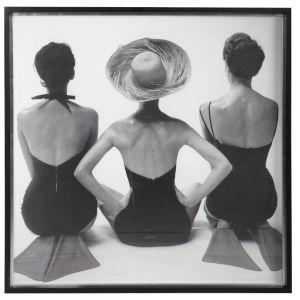 Ladies Swimwear 1959 Black and White Print