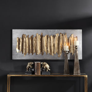 Lev Antique Gold Leaf Wall Art