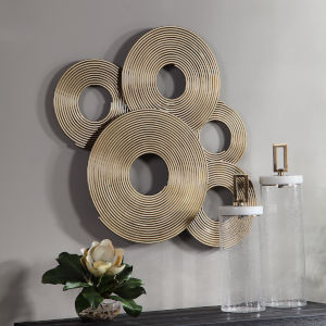 Ahmet Gold Ring Wall Decor
