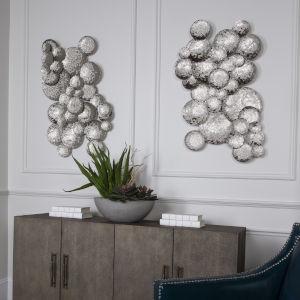 Cassava Gray Hammered Discs Wall Art