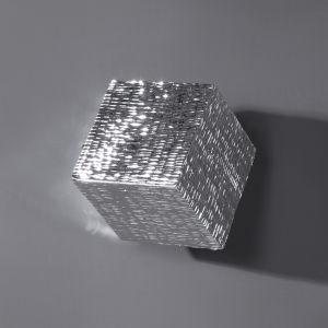 Jessamine Metallic Silver Wall Cube