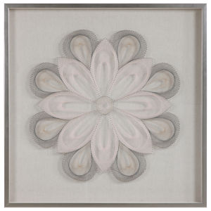 Floral Slate Gray Dreams Shadow Box