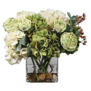Cecily Cream and Sage Hydrangea Bouquet