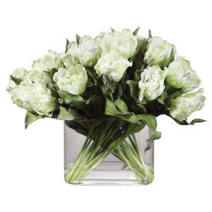 Kimbry White Tulip Centerpiece