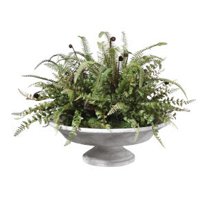 Mabry Natural Green Lush Fern Centerpiece