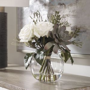 Belmonte Multicolor Floral Bouquet and Vase