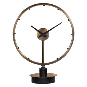 Davy Antique Brushed Brass Modern Table Clock