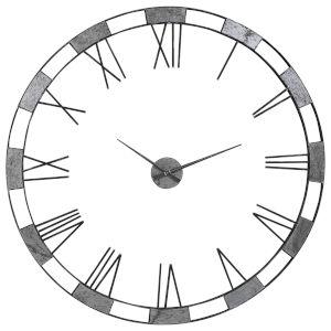 Alistair Gunmetal Wall Clock