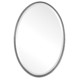 Reva Aged Silver Oval Mirror