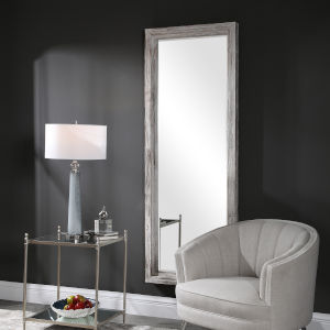 Jestine White and Gray Dressing Mirror