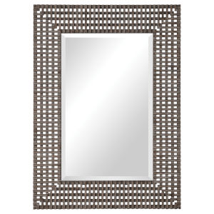 Tarquin Dark Aged Gray Rectangular Mirror