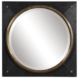 Tobiah Solid Wood Square Mirror
