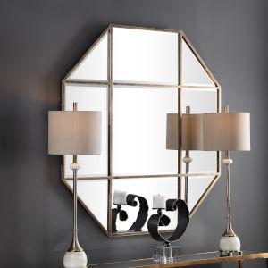 Daniella Antique Brushed Brass Octagon Mirror