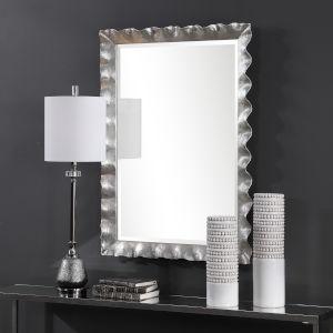 Haya Silver Leaf Vanity Mirror