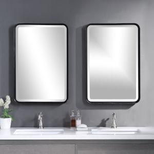 Croften Black Vanity Mirror