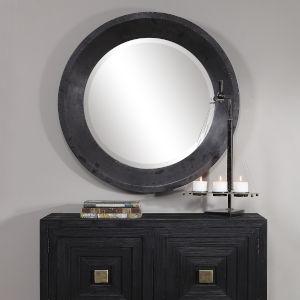 Frazier Gray Round Mirror