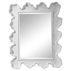 Sea Matte White Coral Coastal Mirror
