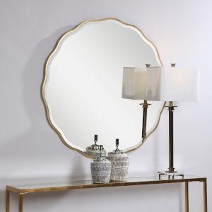 Aneta Aged Gold  Round Mirror