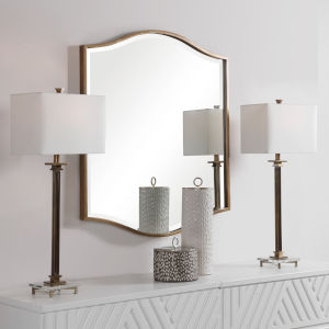 Cerise Antique Gold Mirror