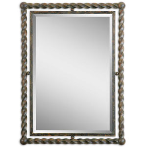 Garrick Wrought Iron 35-Inch Mirror