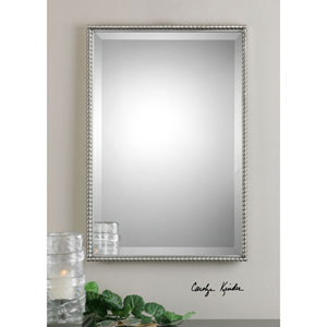 Brushed Nickel Sherise Rectangle Mirror