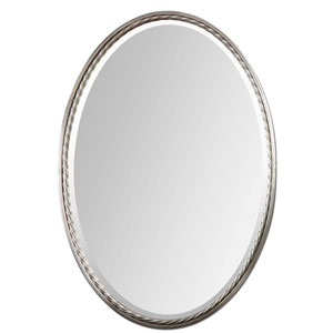 Casalina Brushed Nickel Oval Mirror