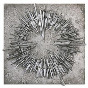 Nebulus Silver by Matthew Williams: 37 x 37-Inch Wall Art
