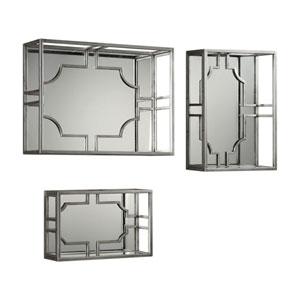 Adoria Silver Wall Shelves, Set of Three
