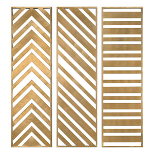 Zahara Gold Panels, Set of Three