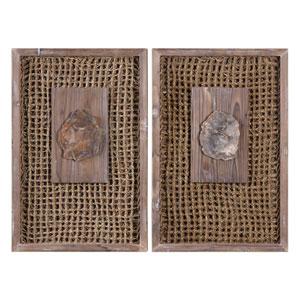 Endicott Petrified Wood Panels, Set of Two