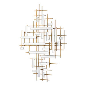 Apollo Gold and Mirrored Wall Art