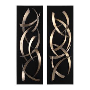 Brushstrokes Metal Wall Art, Set of 2