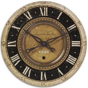 Auguste Verdier Brass Clock