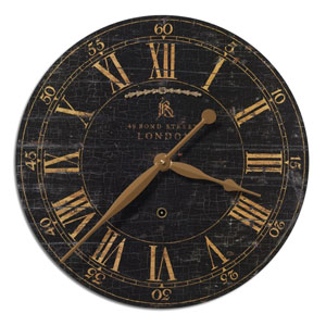 Bond Street 18 Inch Black Clock