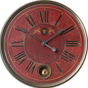 Regency Villa Tesio Brass Clock