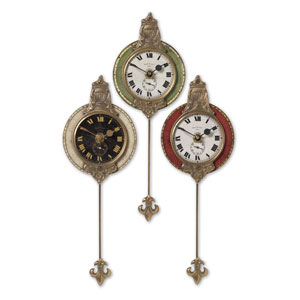 Monarch Brass Clock, Set of Three