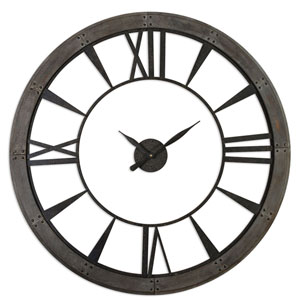 Ronan Rustic Bronze Large Wall Clock