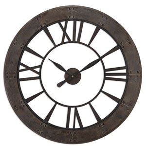 Ronan Dark Rustic Bronze Wall Clock