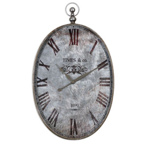 Argento Antique Silver Wall Clock