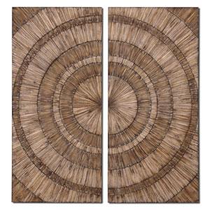 Natural Wood Chips Lanciano Mirror